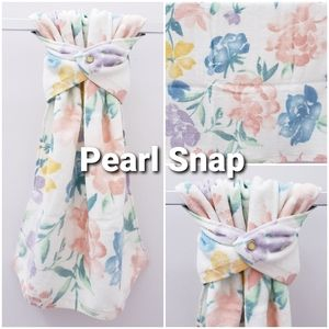 #901-LP *ONE Floral Snap-on HAND Towel